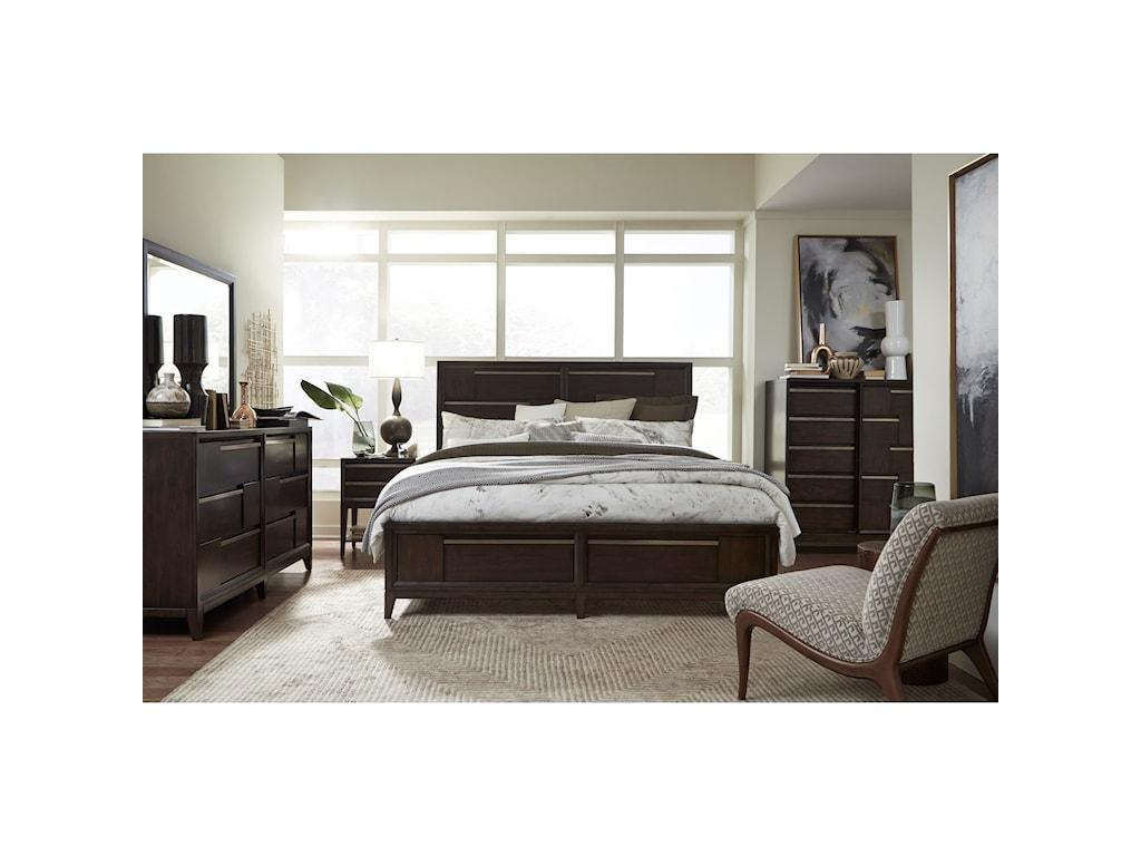 Magnussen Home Modern GeometryQueen Bedroom Group