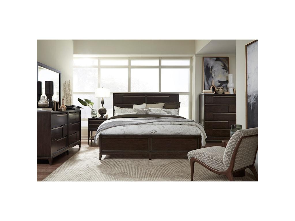 Magnussen Home Modern GeometryQueen Bed