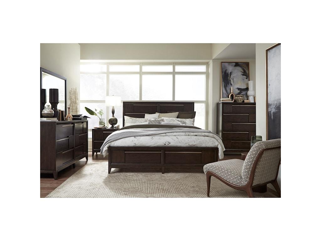 Magnussen Home Modern GeometryQueen Storage Bed