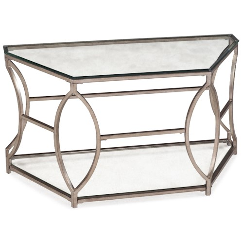 Magnussen Home Nevelson Demilune Sofa Table with Glass Top