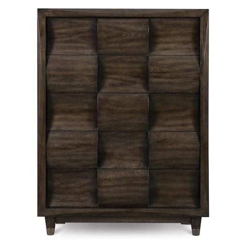 Magnussen Home Noma Drawer Chest with 5 Drawers and Metal Capped Feet