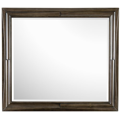 Magnussen Home Noma Landscape Mirror With Concave and Convex Frame Detail