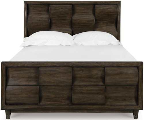Magnussen Home Noma Queen Panel Bed with Concave and Convex Detail