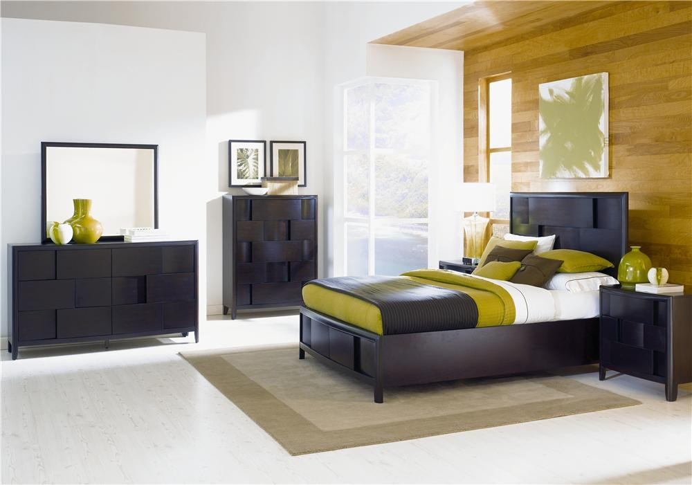 Shown With Dresser, Landscape Mirror, Five Drawer Chest, and Nightstand - Bed Shown May Not Represent Size Indicated