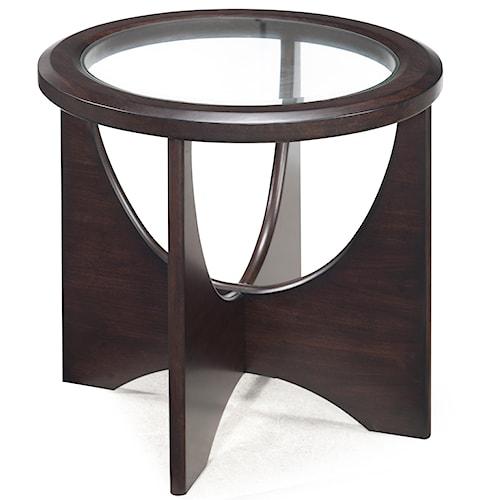 Belfort Select Okani Glass Top Oval End Table