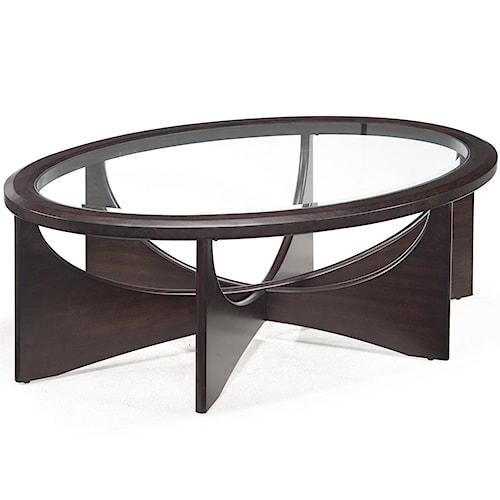 Belfort Select Okani Glass Top Oval Cocktail Table