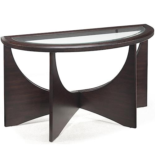 Belfort Select Okani Demilune Sofa Table with Glass Top