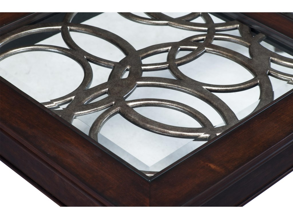 Decorative Metal and Glass Inlay