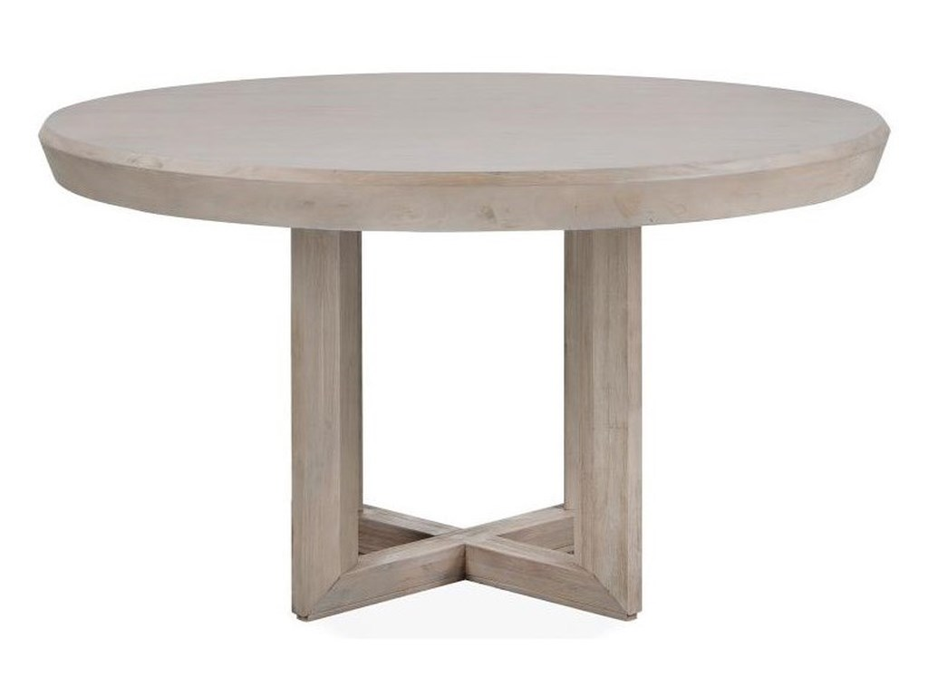 Magnussen Home Palisade Contemporary 54 Inch Round Dining Table Howell Furniture Kitchen Tables