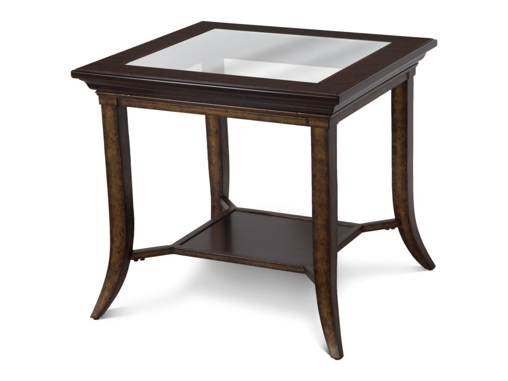 Parsons Rectangular End Table With Gl Top
