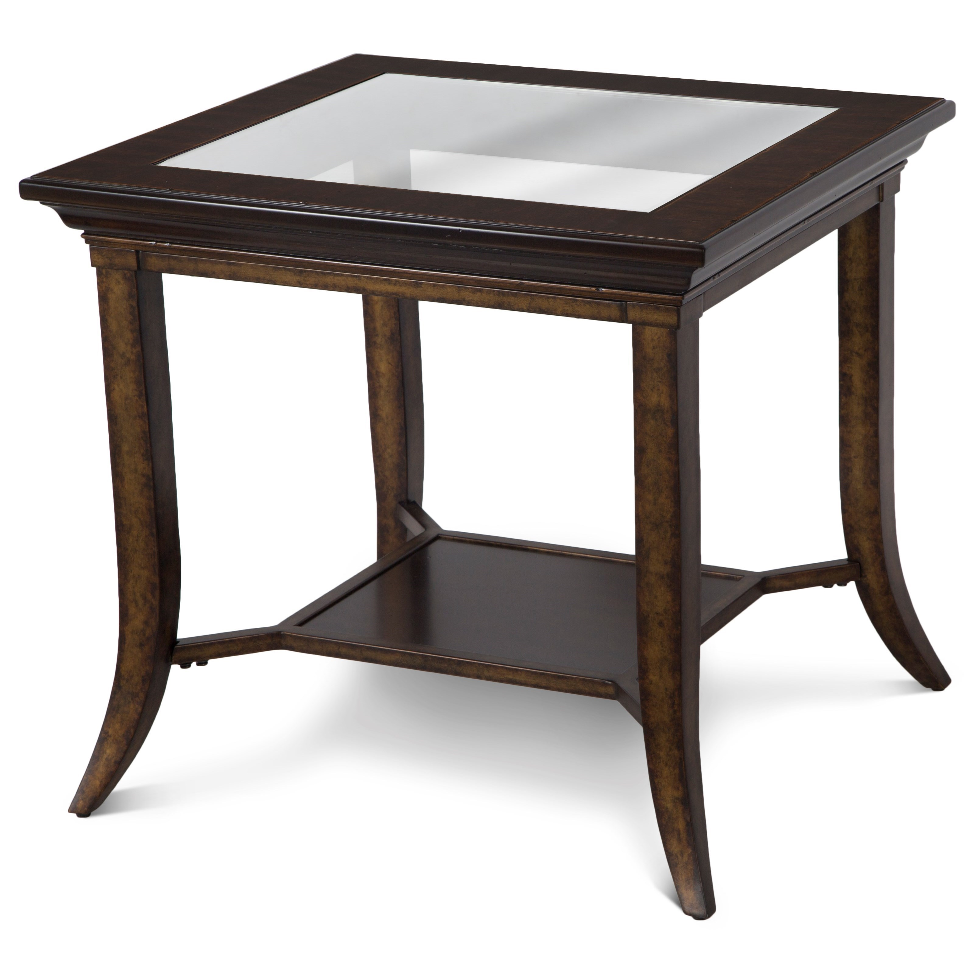 Magnussen Home Parsons Rectangular End Table With Glass Top