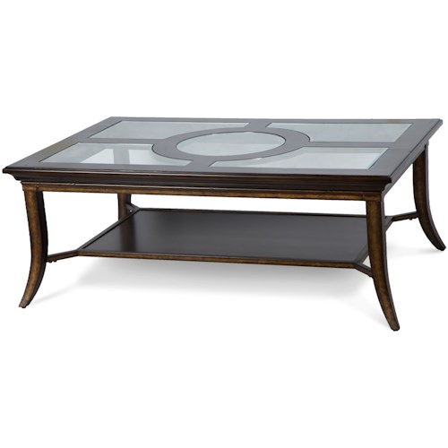 Magnussen Home Parsons Rectangular Tail Table With Gl Top Inserts
