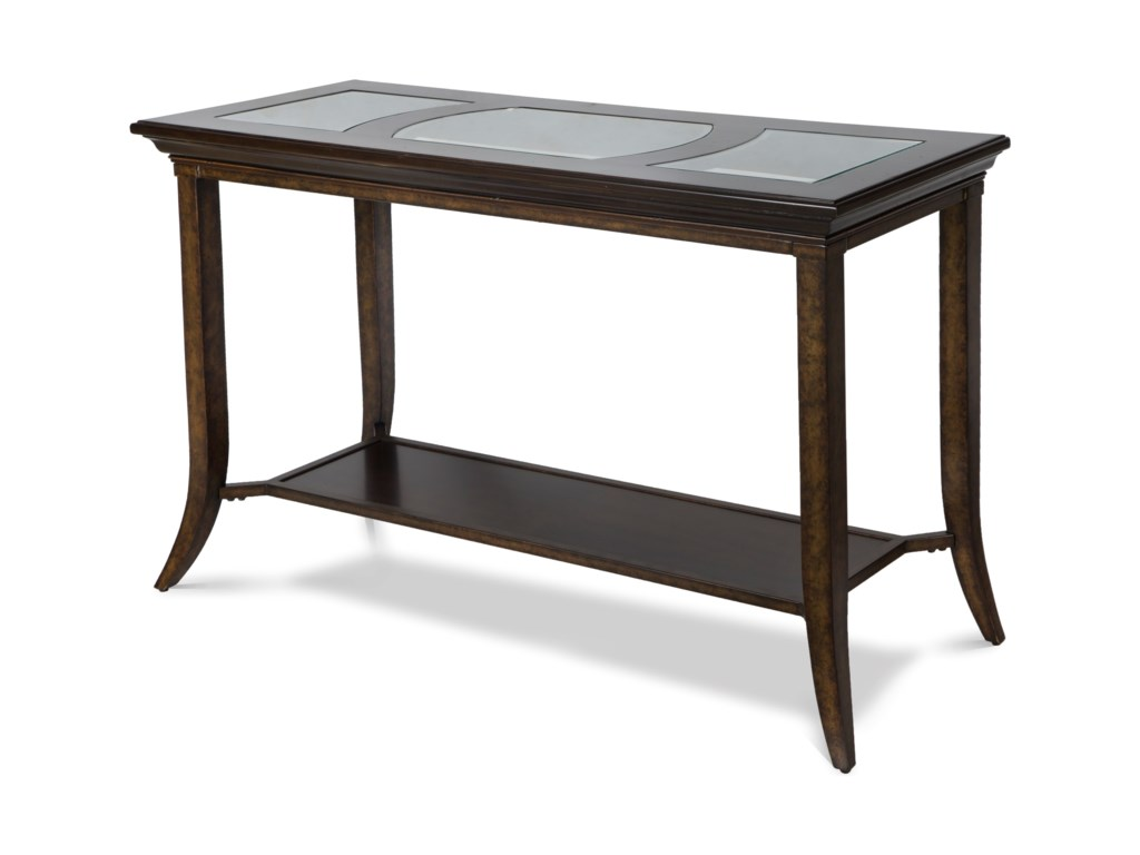 Parsons Rectangular Sofa Table With Gl Inserts