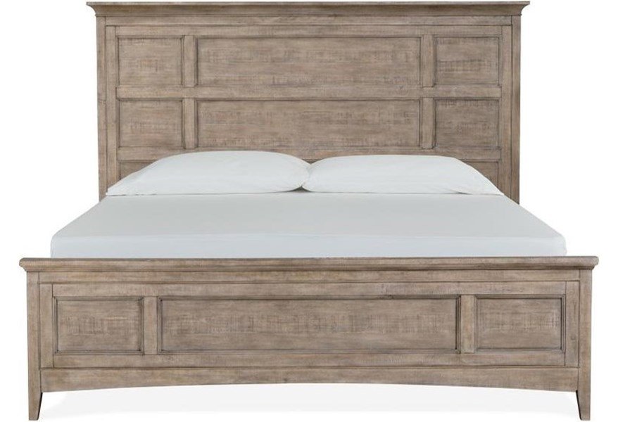 Magnussen Home Paxton Place B4805 64 King Panel Bed Upper Room Home Furnishings Panel Beds