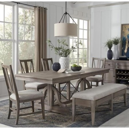 6-Piece Dining Set w/ Bench
