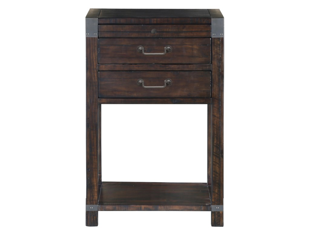 Pine Hill 2 Drawer Open Nightstand With Touch Lighting By Belfort Select At Furniture