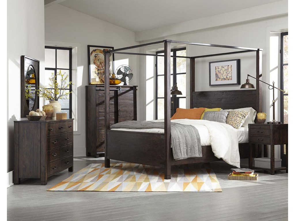 Magnussen Home Pine Hill 2 Drawer Open Nightstand With Touch