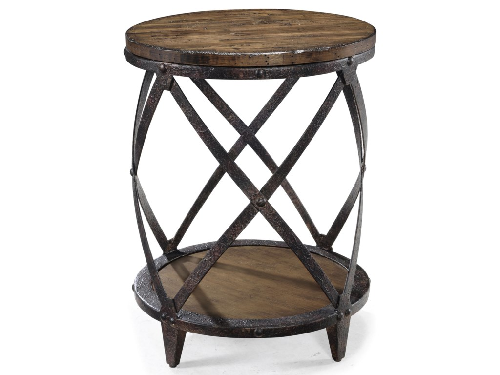 Magnussen Home PinebrookRound Accent End Table