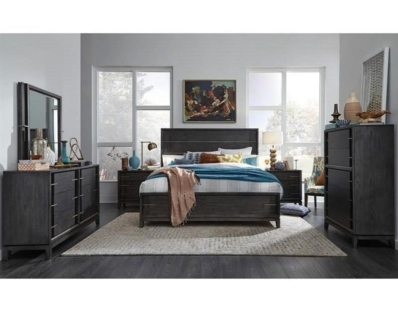 Magnussen Home Proximity Heights BedroomMirror with Metal Frame