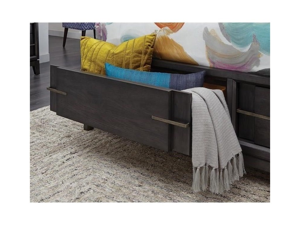 Magnussen Home Proximity Heights BedroomQueen Pattern Storage Bed