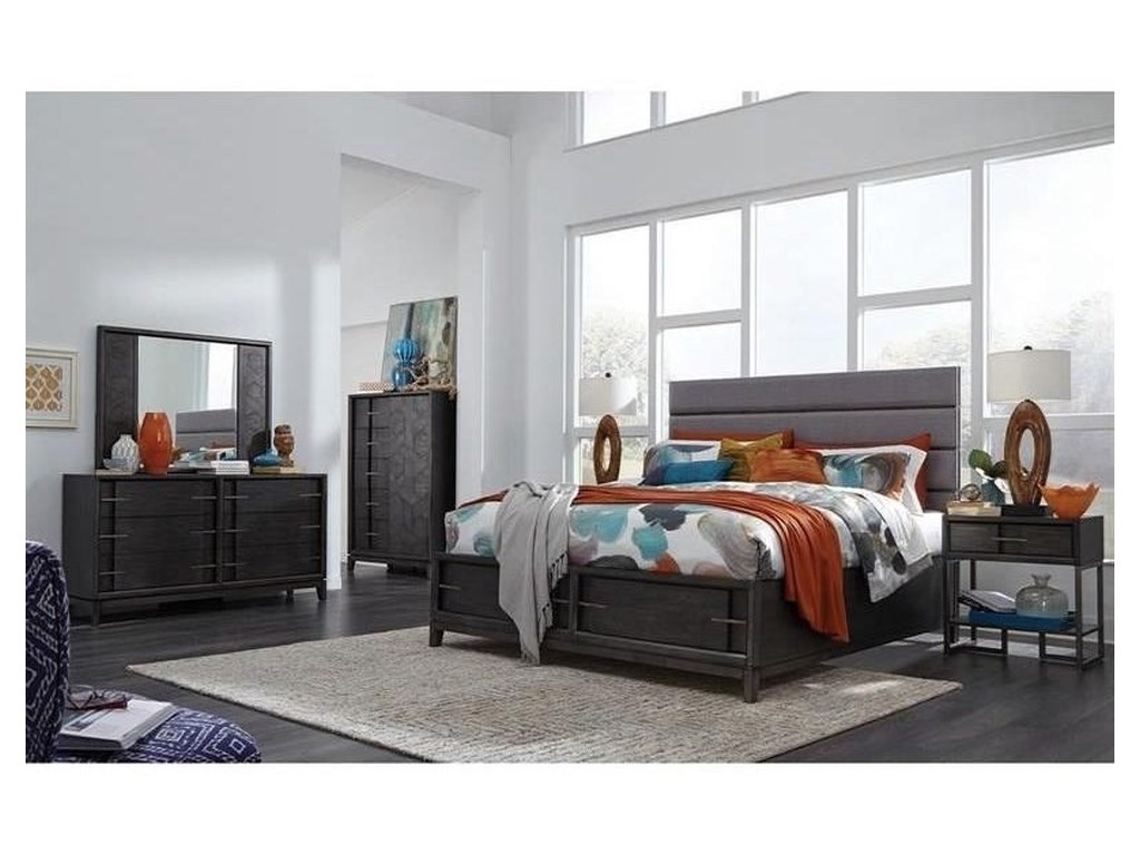 Magnussen Home Proximity Heights BedroomQueen Upholstered Storage Bed