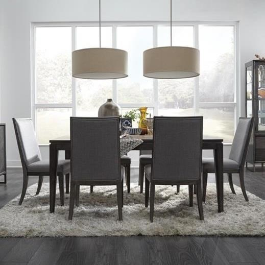 Magnussen Home Proximity Heights Dining Rectangular Table And Upholstered  Chair Set