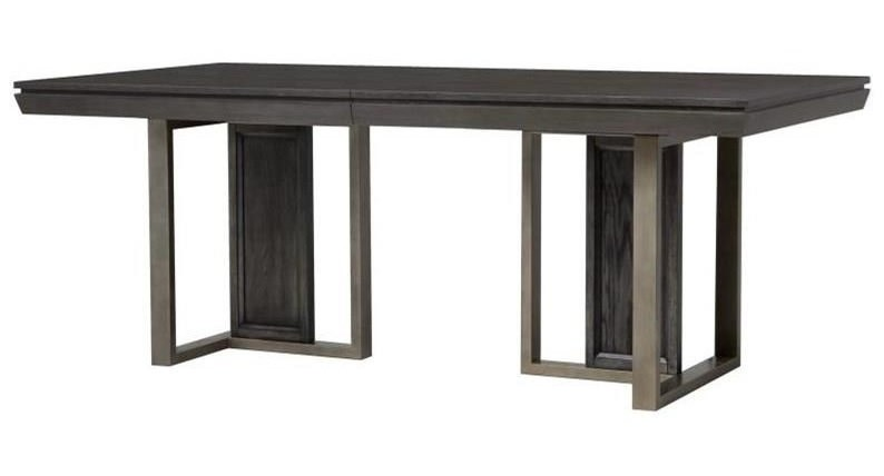 Magnussen Home Proximity Heights Dining Modern Double Pedestal Table - Modern double pedestal dining table