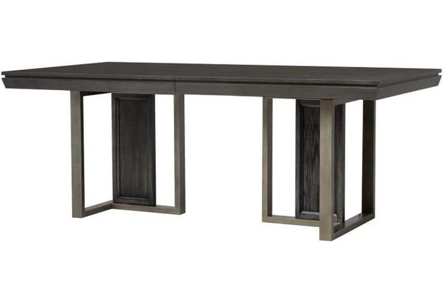 Proximity Heights Modern Double Pedestal Table With Leaf By Magnussen Home At Dunk Bright Furniture