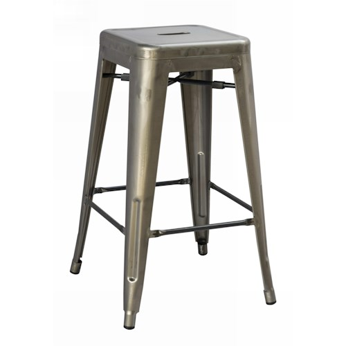 Belfort Select Stovall Vintage Metal Counter Height Stool