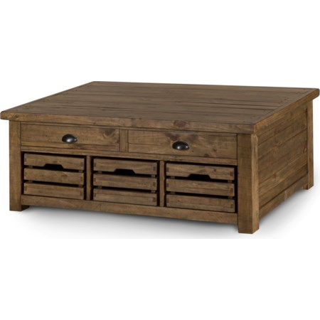Lift Top Storage Cocktail Table