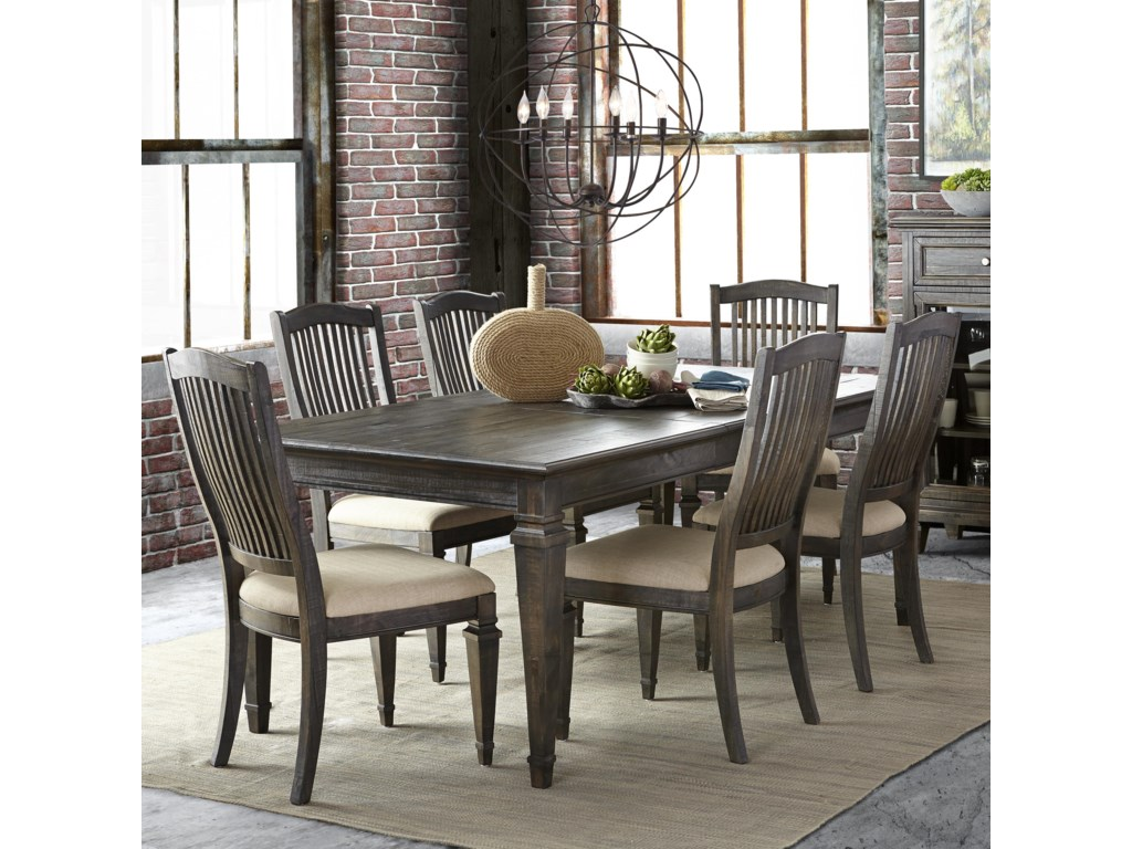 magnussen home sutton place transitional seven piece dining set miskelly furniture dining 7 or more piece sets - Magnussen Dining Room Furniture