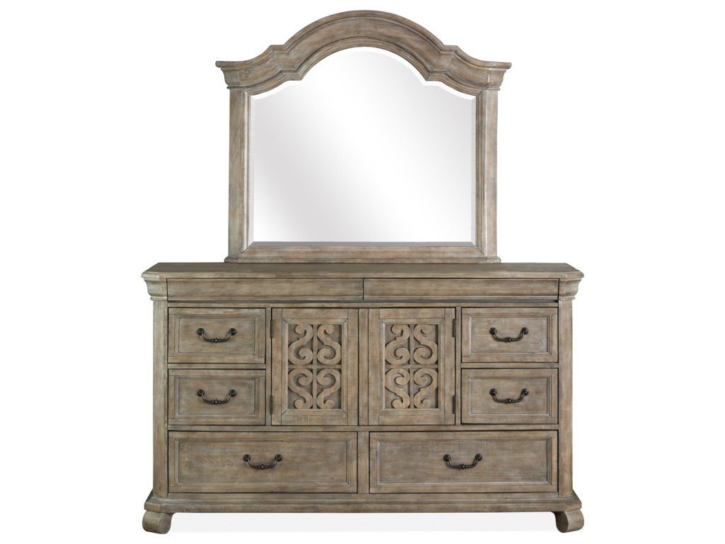 Magnussen Home Tinley ParkDrawer Dresser & Mirror Set
