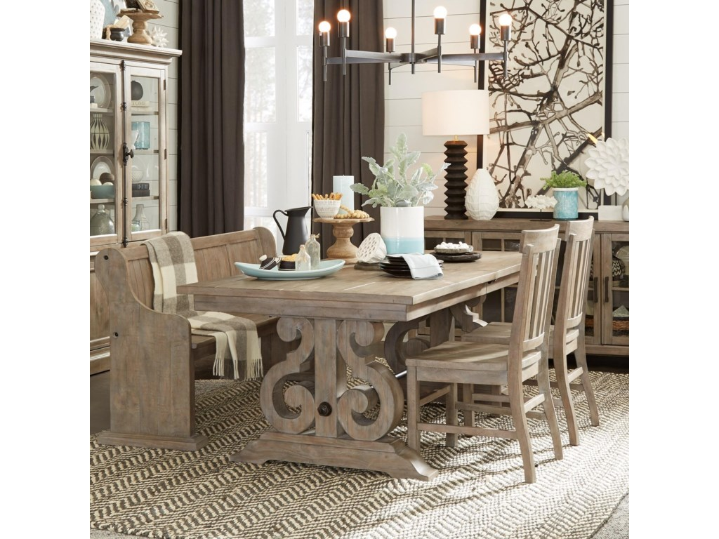 Magnussen Home Tinley Park6 Piece Table & Chair Set with Bench