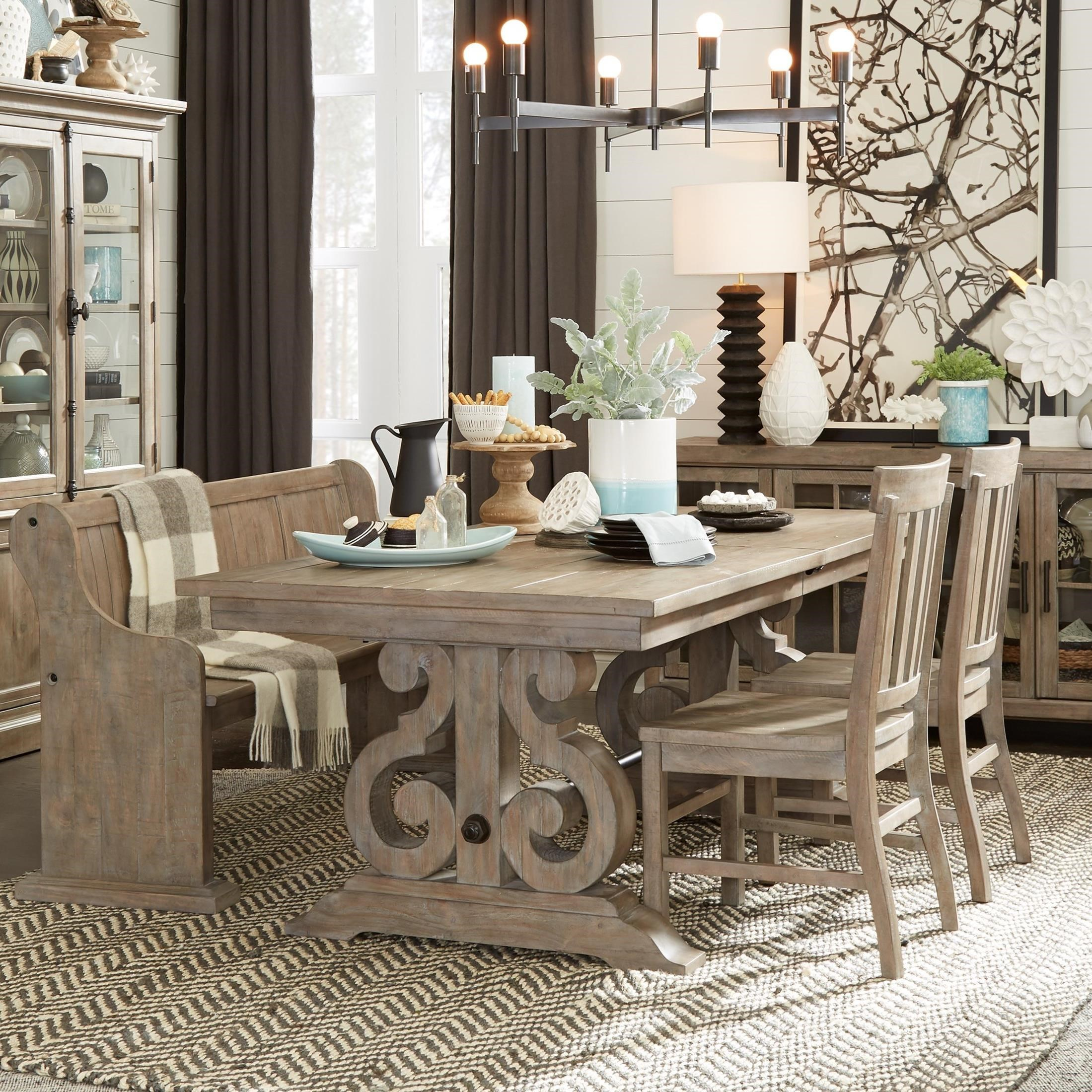 Magnussen Home Tinley Park6 Piece Table U0026 Chair Set With Bench