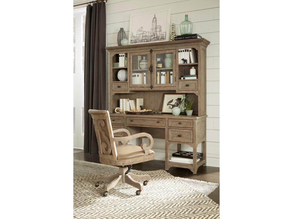 Magnussen Home Tinley ParkDesk and Hutch