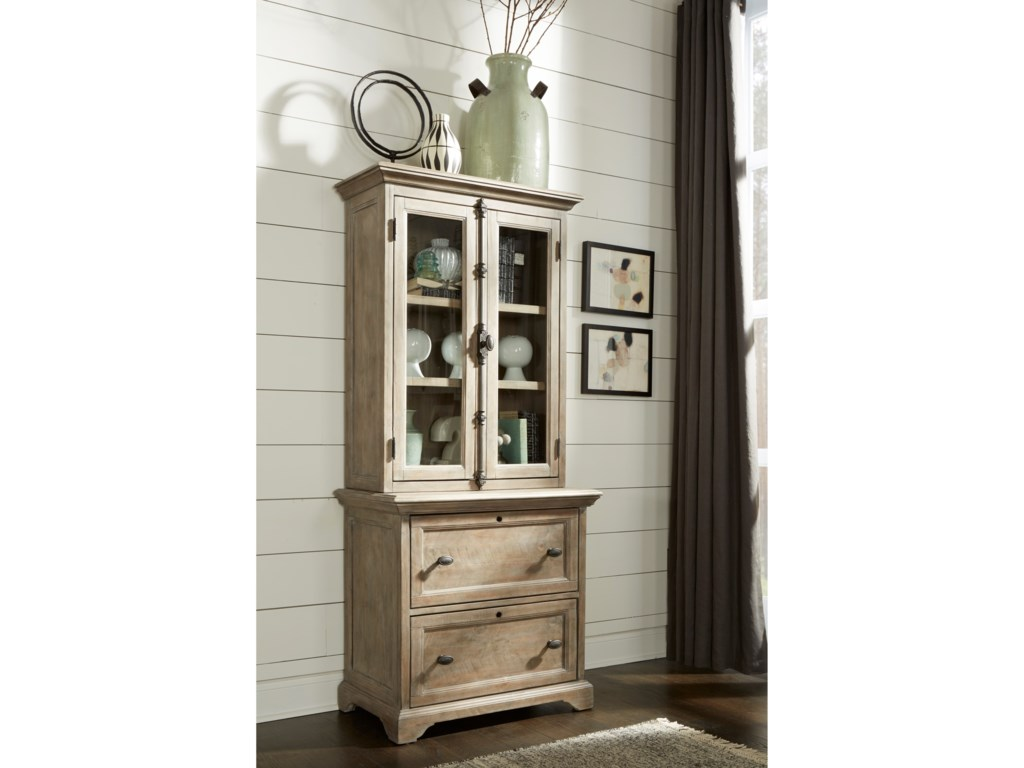 Magnussen Home Tinley ParkLateral File with Display Hutch