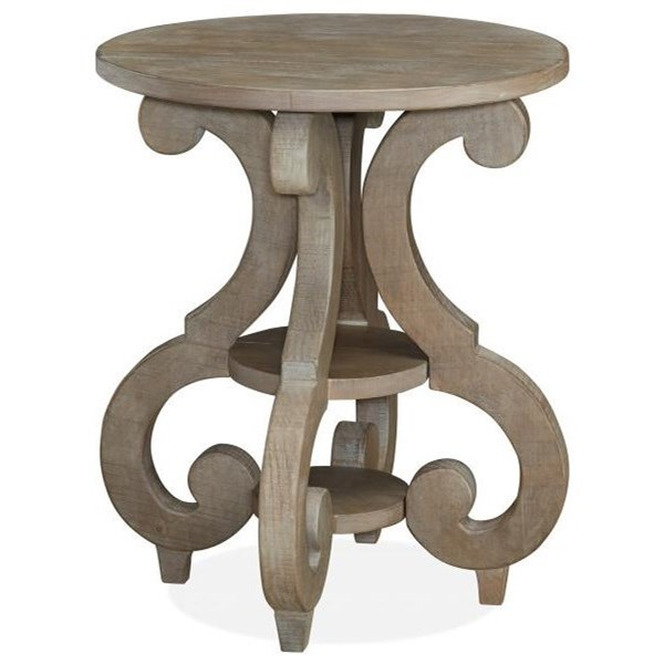 Charmant Magnussen Home Tinley ParkRound Accent End Table ...
