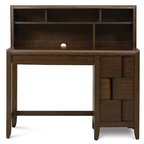 Belfort Select Youth Twilight  Single Pedestal Desk with Electronic Storage & Hutch