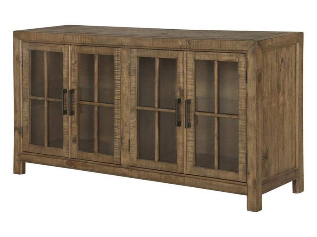 Magnussen Home WilloughbyBuffet Curio Cabinet