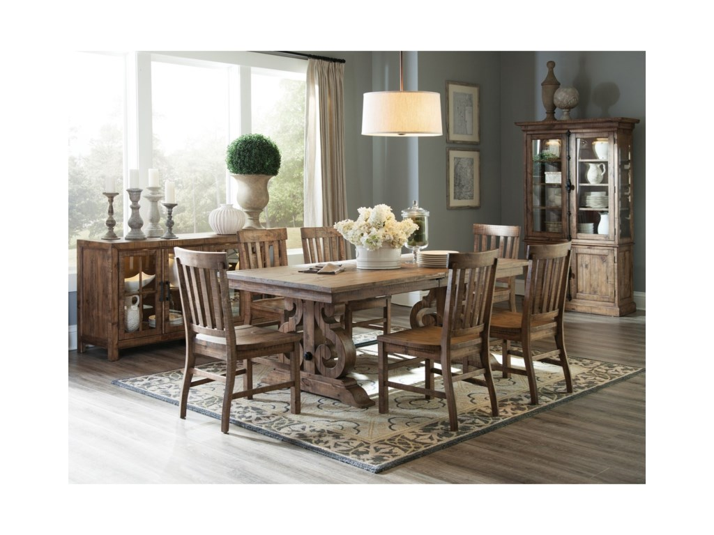 Magnussen Home Willoughby7-Piece Rectangular Dining Table Set