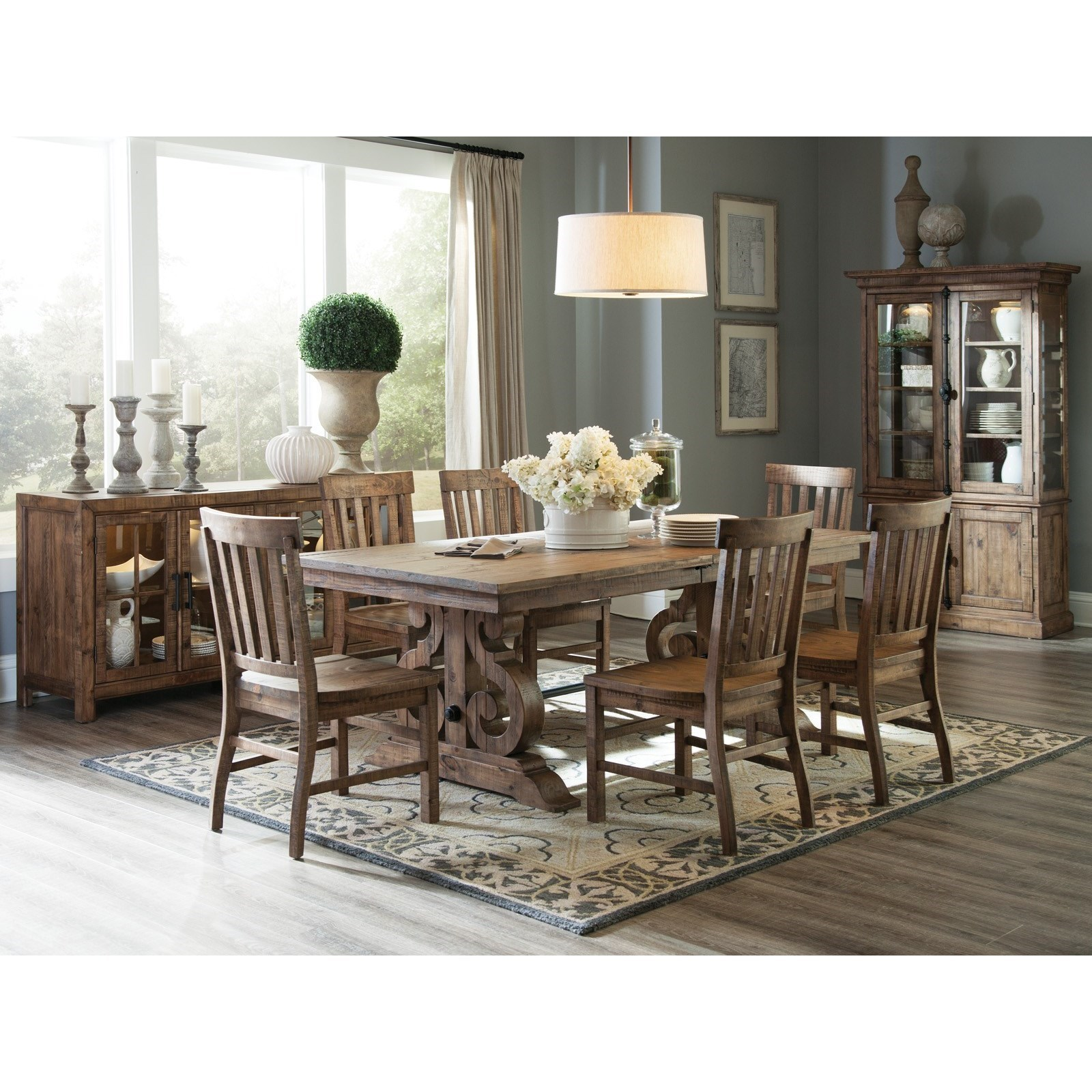 ... Magnussen Home Willoughby7 Piece Rectangular Dining Table Set