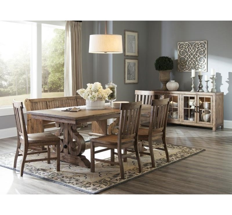 magnussen home willoughby d4209 rectangular dining table with butterfly leaves - Magnussen Dining Room Furniture