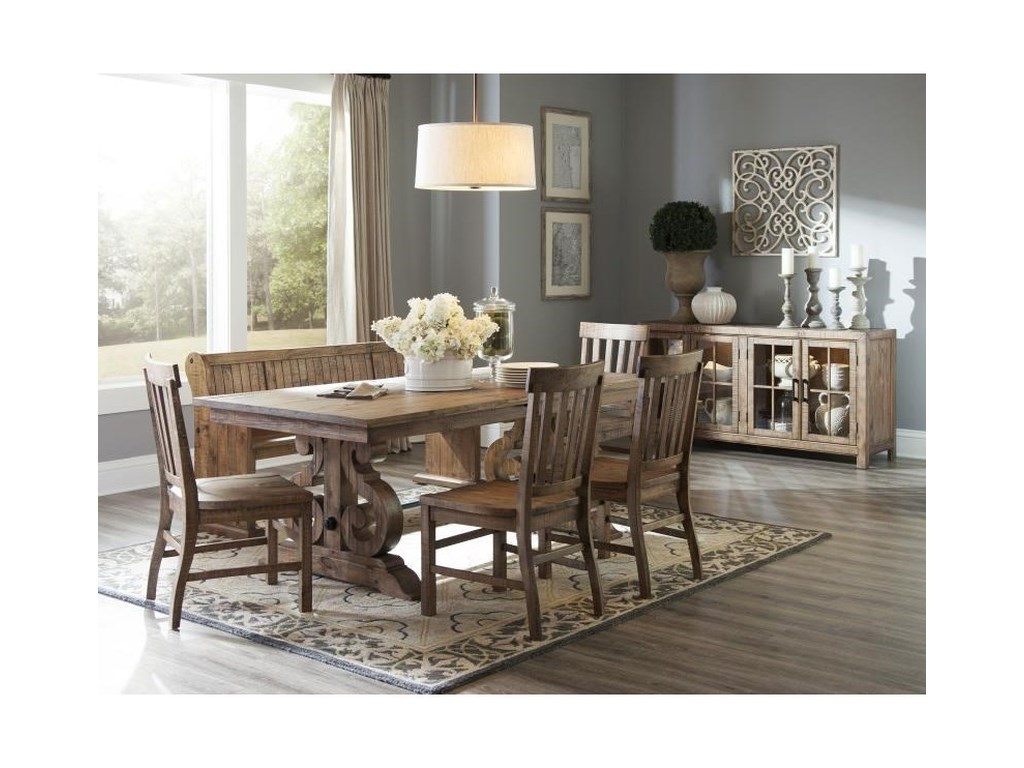Magnussen Home WilloughbyDining Side Chair with Slat Back