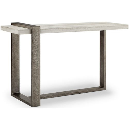 Magnussen Home Wiltshire MH Contemporary Sofa Table with Metal Base ...