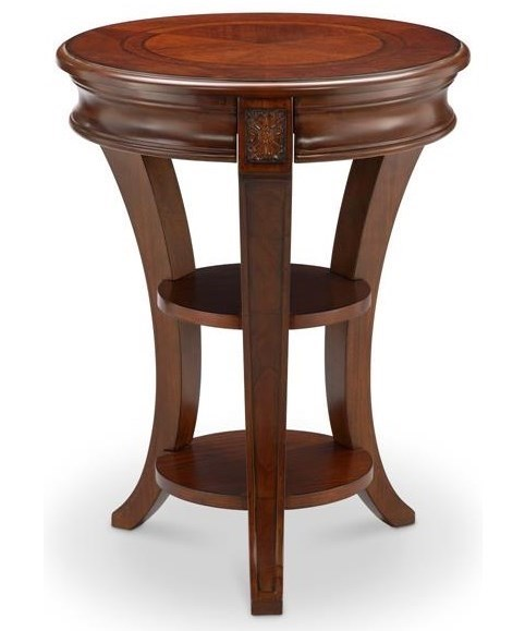 Winslet Round Accent Table With Shelves By Magnussen Home