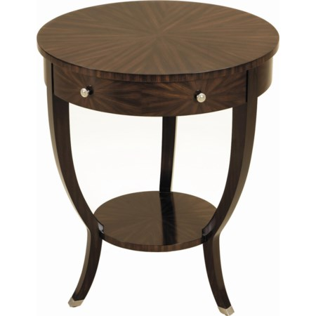 Ebony Finished Zebrano Veneer Round Table