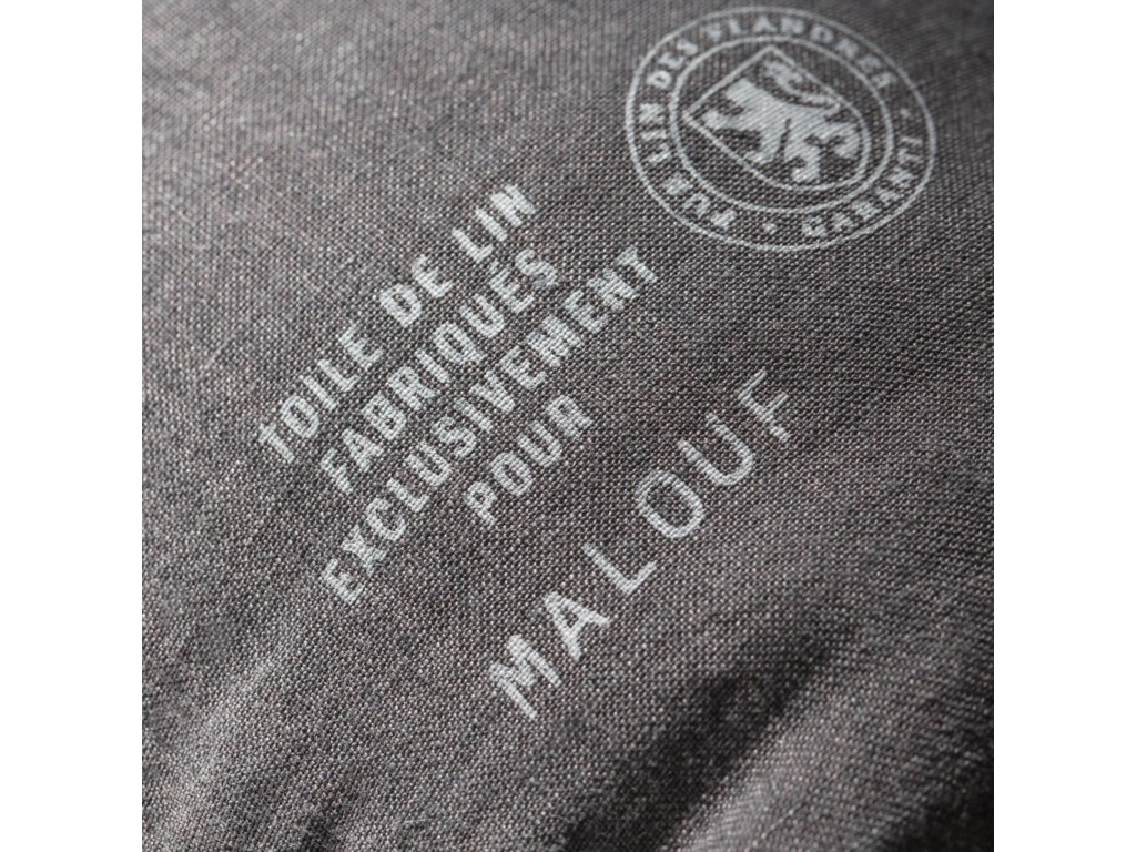 Malouf French Linen CharcoalCal King Sheet Set