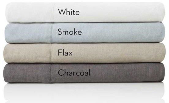 Malouf French Linen CharcoalKing Pillowcases