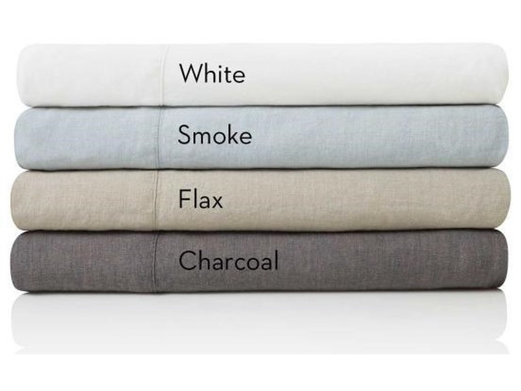 Malouf French Linen CharcoalQueen Pillowcases