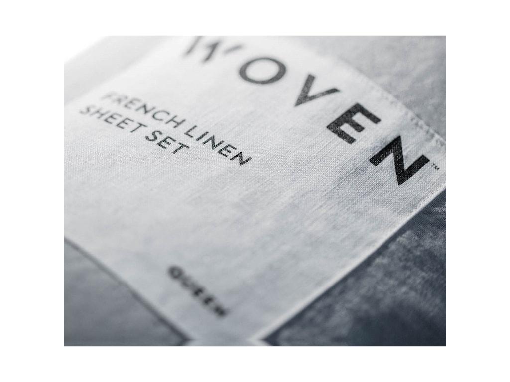 Malouf French Linen CharcoalSplit Cal King Sheet Set